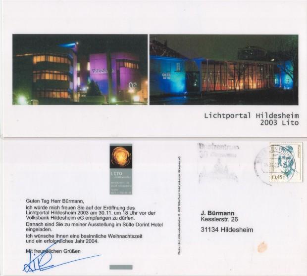 Ausstellung Lichtportal Hildesheim 2003